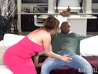 Rough interracial fucking between a BBC and chibby Alix Lovell